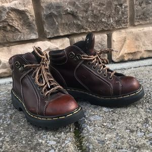 Dr Martens, brown leather boots